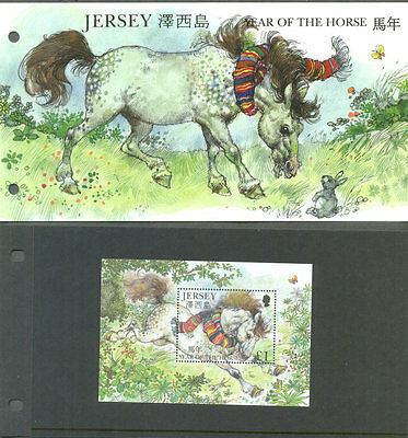 Jersey -Year of the Horse Presentation Pack + Min sheet mnh 2002-Horses