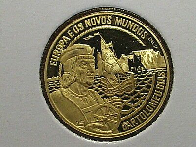 Portugal Old Gold Coin 200 Ecu 1993 Ship