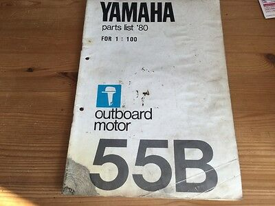 Yamaha outboard motor parts list 1980 - model 55B
