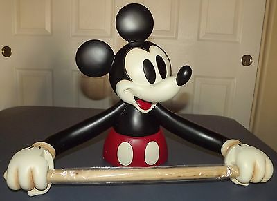 "NIB Disney Mickey Mouse Paper Towel Holder appr 17"" across, 12-1/2"" high 6"" deep"