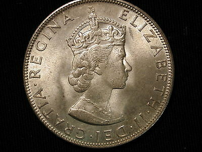 1964 Bermuda Crown Queen Elizabeth II Uncirculated  UNC Lusterous