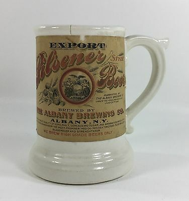 Antique Albany Brewing Mustache Mug - Albany NY - Craft Brew Beer - Breweriana