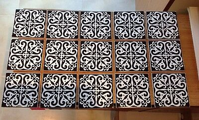 "Carter Tiles Peggy Angus Design 1960s 6""x6"" X15 Ideal For Retro Coffee Table"