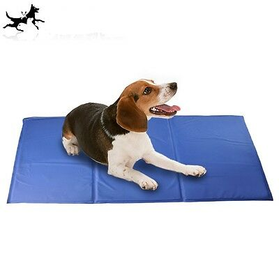 Pet Dog Cat Cooling Gel Mat Bed Summer Heat Relief Non Toxic Cushion Pad 65x50cm