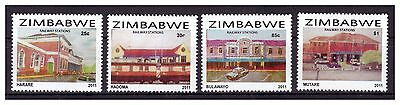 Zimbabwe 2011 Railway Stations Of Zimbabwe Set Sg 1314 To 1317 Issued In Us$