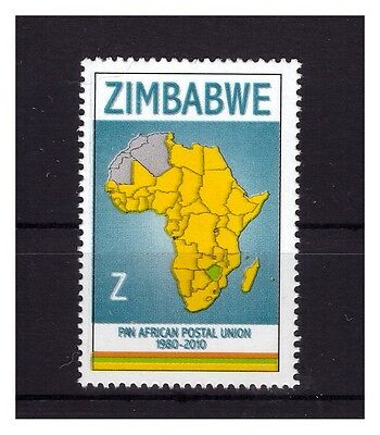 ZIMBABWE 2010 30th ANNIVERSARY OF THE PAN AFRICAN POSTAL UNION SINGLE ISSUE