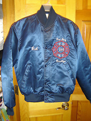 VINTAGE FDNY Engine 235 BED STUY BROOKLYN Jacket size M