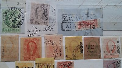 MEXICO HIDALGO 1856-61   67 stamps for the specialist $1000.