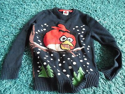 Next Angry Birds Christmas Jumper 6 Years Excellent Condition