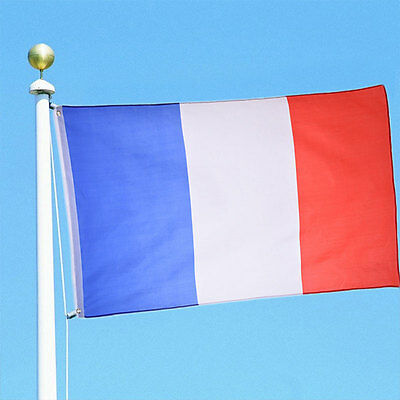 Large France French Flag 5*3FT 5'X3' Polyester Banner 90x150cm