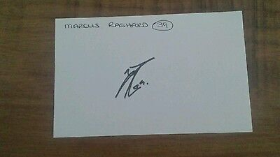 Marcus Rashford signed Index card Manchester United Autograph