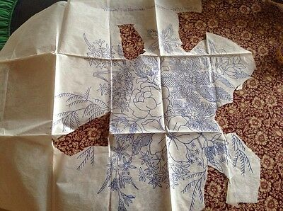 vintage embroidery transfer fragments
