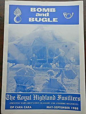 Bomb and Bugle - Royal Highland Fusiliers Regimental Journal 1988