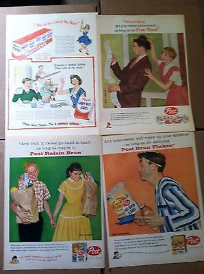 50 POST CEREAL LIFE MAGAZINE SIZE ADS 1950s w  DICK SARGENT artist signed 25c ea