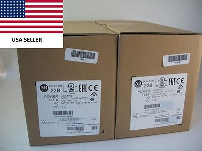 *Ships Today 2017* Allen Bradley 22B-D2P3N104 Power Flex 40 Drive New Sealed 1HP