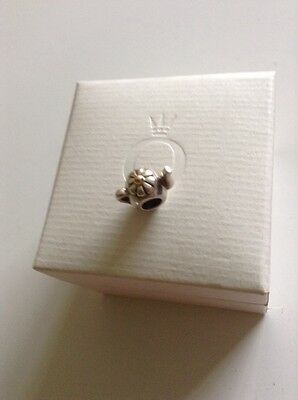 Silver And 9 Ct Gold Genuine Pandora Teapot Charm