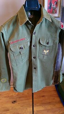 Vintage LS Boy Scout Uniform late 50's early 60's. Great Condition.
