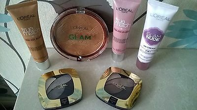 JOB LOT Makeup! New! L'OREAL Cream-Eye Shadow-Powder! 6 Items Altogether!