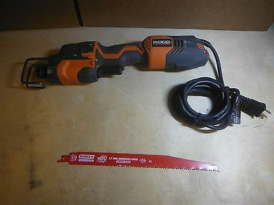 Ridged Fuego R3013 Recipocating Saw One Hand Use with used Blade FREE SHIP 222