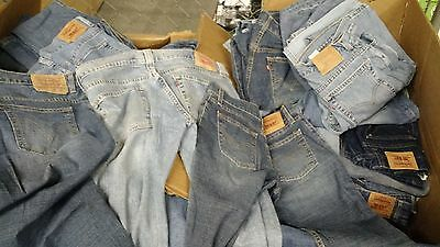 Levi's Jeans 74 Pair Wholesale Lot Lady's 515 518 519 Size 1-8 (BSTOCK-056)