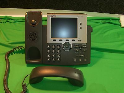 CISCO CP-7945G IP PHONE VOIP LCD DISPLAY with Stands and Handsets