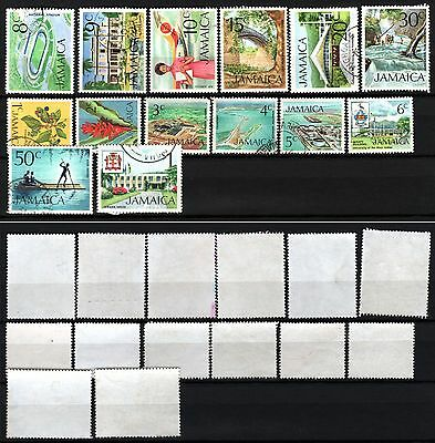 JAMAICA - 1972-79 - short set SG344-357 used fine condition NMH (Lot 17)
