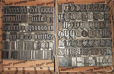 "ANTIQUE 1800's ""60pt ANGLO SAXON"" LETTERPRESS FOUNDRY TYPE PRINTING OLD ENGLISH"