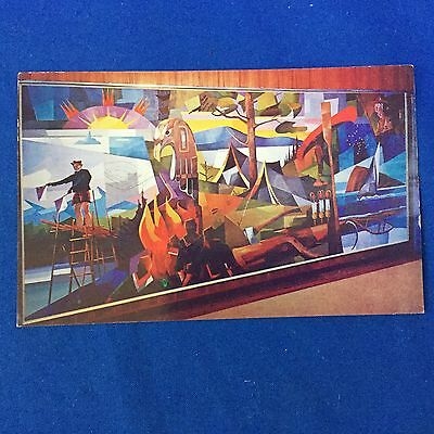 Boy Scout Post Card 1961 3rd Canadian Jamboree with 4c Stamp Mural