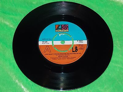 """SISTER SLEDGE : Love don't you go through no changes on me - Orig UK 7"""" EX/NM"""