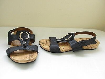 Women/'s Jaclyn Smith Ariella Slingback Wedge Sandals 52199 Black 19A lr New