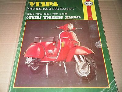 Vespa P125 X E P150 X E P200E PX 125 150 200 E Scooters Haynes Workshop Manual