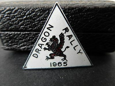 Vintage Dragon Rally Conway + District 1965 Metal Enamel Badge Motorbikes Bwd5/7