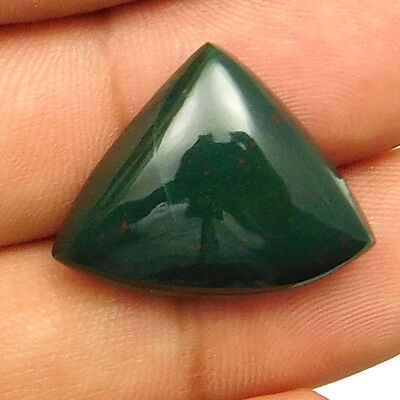 18.50 cts Natural Untreated Green Bloodstone Fancy Shape Loose Gemstone Cabochon
