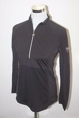 *Goode Rider Womens Equestrian Horse Riding Long Sleeve Black Reflective Shirt
