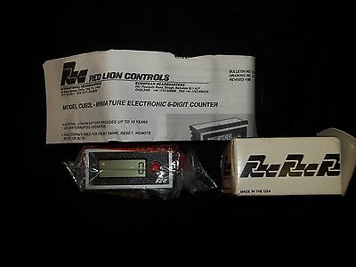 Red Lion Miniature Electronic 6-Digit Counter Model Cud2L