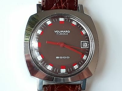 VOUMARD 2000 Swiss Made Watch  17 jewels vintage NOS