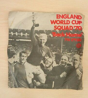 ENGLAND WORLD CUP SQUAD '70 back home*cinnamon stick 1970 PYE FOOTBALL LABEL PS