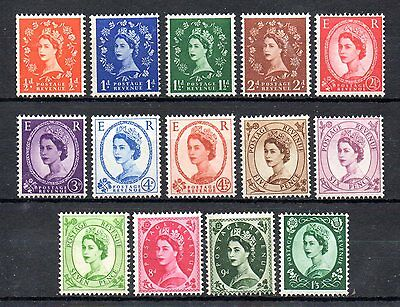 set of 15 mint QEII GB wildings stamps