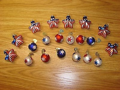 OWC Patriotic Christmas Ornaments-Old World Christmas-20 Miniature-No Reserve