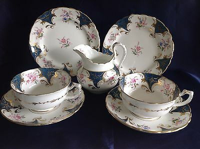Vintage Tuscan Bone China Tea Trio Cup & Saucer With Side Plate