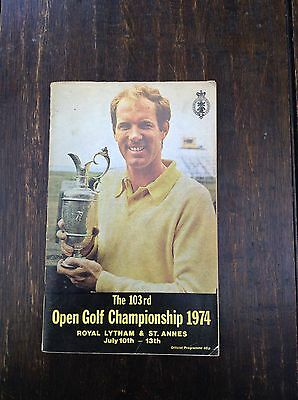 1974 Open Golf Championship Match Official Pogramme