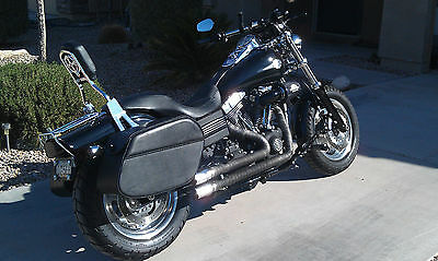 SADDLELINE HARLEY-DAVIDSON DYNA FATBOB FXDF LEATHER SADDLEBAGS Lockable