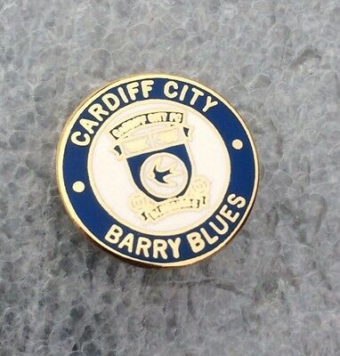 Cardiff City Supporter Enamel Badge  Very Rare - Barry Blues  - Look!