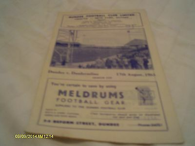 Dundee V Dunfermline Programme League Cup 1963