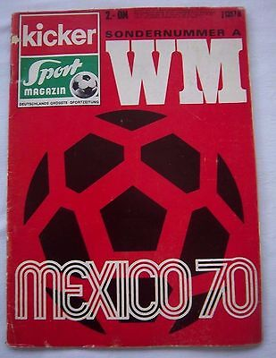Orig.Complete PRG    World Cup MEXICO 1970  -  Special Edition A  !!  VERY RARE