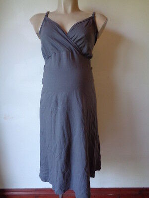 M2B Maternity & Nursing Feeding Grey Nightie Nightdress Size Xl Uk 20