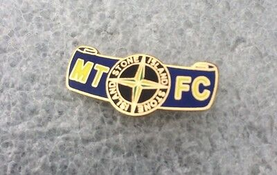 Very Rare Mansfield Town  Enamel Badge  - Casuals Firm On Tour!