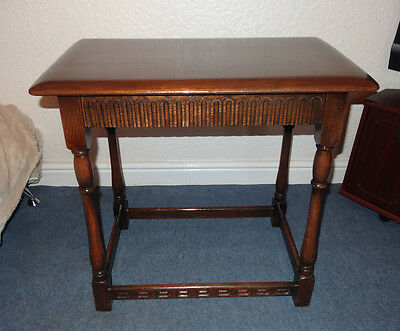 Small-Solid Oak-Vintage-Coffee-Table