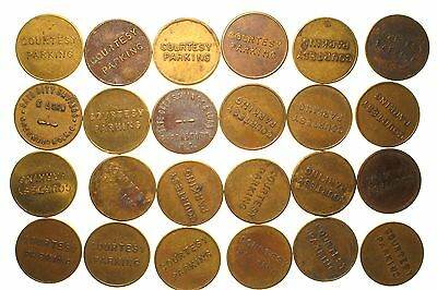Parking Tokens ~ Greensboro N.C. (2) Hobart, Indiana Hobart Federal (1) + more!