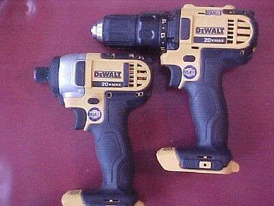 Used, DEWALT  20V Max Li-ion Cordless Combo Drill and Impact Driver Kit With Bag